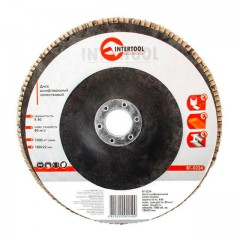 Flap disc 180 mm x 22, K40 INTERTOOL BT-0224