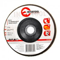 Flap disc 180 mm x 22, K100 INTERTOOL BT-0230
