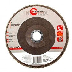 Flap disc 180 mm x 22, K120 INTERTOOL BT-0232