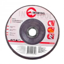 Flap disc 180 mm x 22, K150 INTERTOOL BT-0235