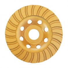 Continuous Turbo Cup Grinding Wheel 125X22,2 mm INTERTOOL CT-6225