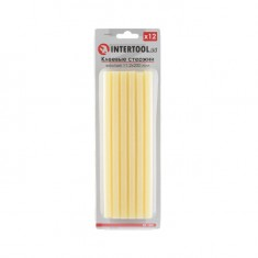 Glue sticks (yellow) 11.2 mmx200 mm, 12 pcs INTERTOOL RT-1021
