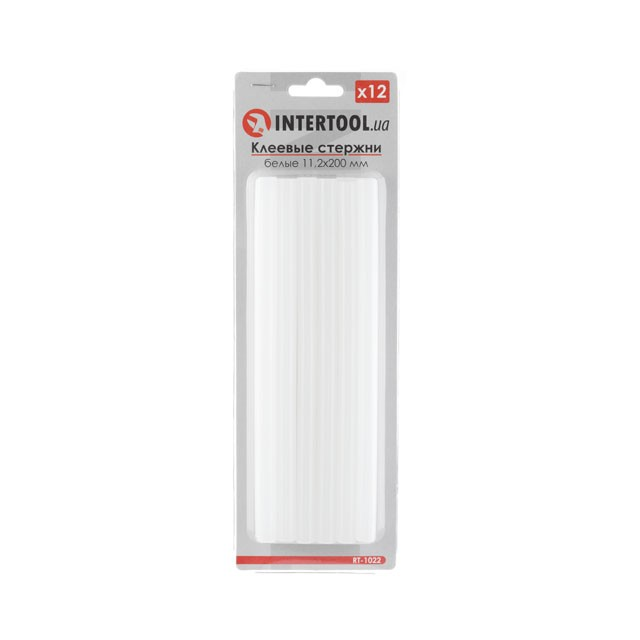 Glue sticks (white) 11.2 mmx200 mm, 12 pcs INTERTOOL RT-1022