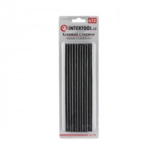 Glue sticks (black) 11.2 mmx200 mm, 12 pcs INTERTOOL RT-1023