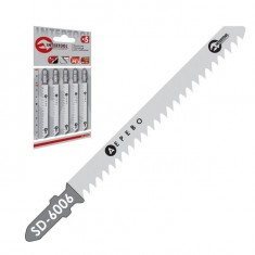 Jig-saw blade, 75 mm, tooth spacing 4.0 mm, for wood and plastic INTERTOOL SD-6006