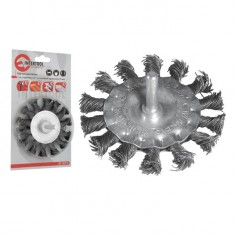 "Wheel brush 100 mm for hand drill, 1/4"" (twisted wire) INTERTOOL BT-8100"