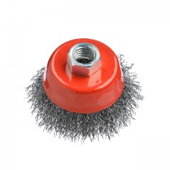 Cup brush 65 mm, for angle grinder, M14 (crimped wire) INTERTOOL BT-1065