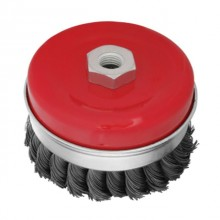 Cup brush 100 mm, for angle grinder, heavy duty, M14 (twisted wire) INTERTOOL BT-1101