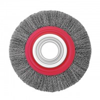 Wheel brush 200x32 mm (crimped wire) INTERTOOL BT-6200