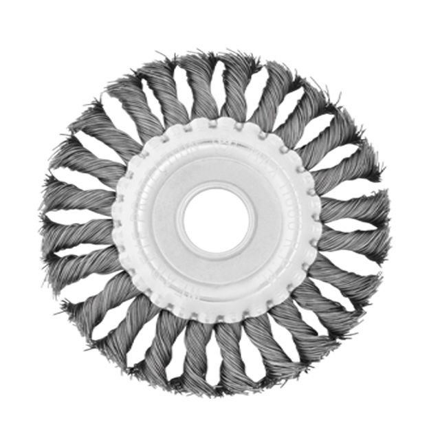 Wheel brush 180x22.2 mm (twisted wire) INTERTOOL BT-7180