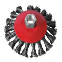 Bevel brush 125 mm, for angle grinder, M14 (twisted wire) INTERTOOL BT-4125