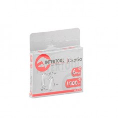 Staples 6 mm, pack 1000 pcs, width 11.3 mmxsection 0.70 mm INTERTOOL RT-0106: фото 3