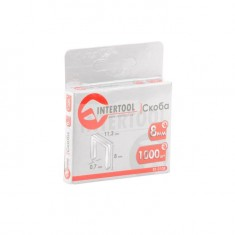 Staples 8 mm, pack 1000 pcs, width 11.3 mmxsection 0.70 mm INTERTOOL RT-0108: фото 3