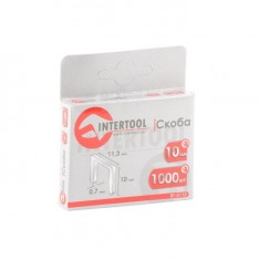 Staples 10 mm, pack 1000 pcs, width 11.3 mmxsection 0.70 mm INTERTOOL RT-0110: фото 3
