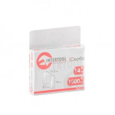 Staples 14 mm, pack 1000 pcs, width 11.3 mmxsection 0.70 mm INTERTOOL RT-0114: фото 3