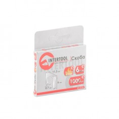 Staples hardened 6 mm, pack 1000pcs, width 11.3 mmxsection 0.70 mm INTERTOOL RT-0126: фото 3