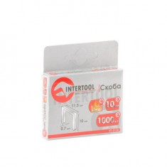Staples hardened 10 mm, pack 1000pcs, width 11.3 mmxsection 0.70 mm INTERTOOL RT-0130: фото 3