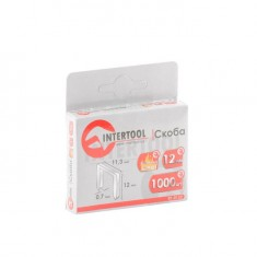 Staples hardened 12 mm, pack 1000pcs, width 11.3 mmxsection 0.70 mm INTERTOOL RT-0132: фото 3