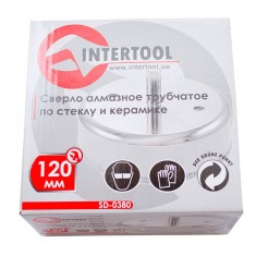 Diamond hole saw for tiles and glass 120 mm INTERTOOL SD-0380: фото 3