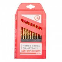 Metal drills set HSS 19 pcs INTERTOOL SD-0019