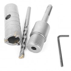 Set. Core bit 26 mm, adapter SDS Plus 100 mm INTERTOOL SD-7026: фото 5
