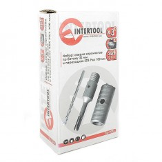 Set. Core bit 32 mm, adapter SDS Plus 100 mm INTERTOOL SD-7032: фото 7