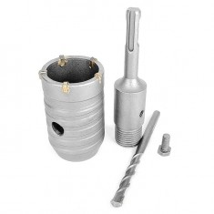 Set. Core bit 46 mm, adapter SDS Plus 100 mm INTERTOOL SD-7046: фото 4