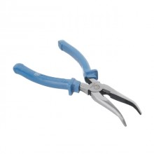 Bent long nose pliers 200 mm INTERTOOL HT-0126