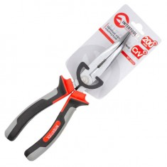 Bent long nose pliers 200 mm, insulated handles 1000 V INTERTOOL NT-0225: фото 2