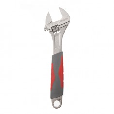 Adjustable wrench 300 mm, insulated handle, nickel coated INTERTOOL XT-0030: фото 2