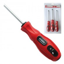 3 pcs screwdriver set (SL5x100,PH1x100,PH2x100) CrV, Ergo-design INTERTOOL VT-2004