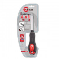 6 in 1 screwdriver PH1,PH2,PH3,PZ1,PZ2,PZ3 INTERTOOL VT-1022