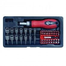 Ratchet screwdriver + 48 bits INTERTOOL HT-0441