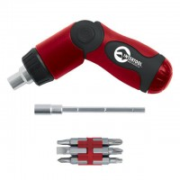 Foldable ratchet screwdriver + 14 bits INTERTOOL VT-1014
