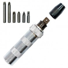 Screwdriver go through + 13 bits INTERTOOL HT-04310