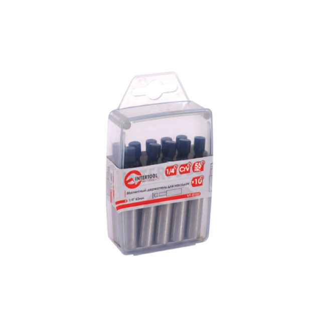 "Magnetic bit holder 1/4"" 60 mm, 10 pcs/pack INTERTOOL VT-0102"