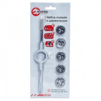 Tap set with holder 6 pcs (M4,M5,M6,M8,M10) INTERTOOL SD-8019