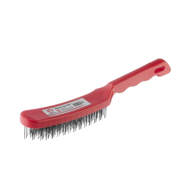 5 rows wire brush, plastic handle INTERTOOL BT-0008