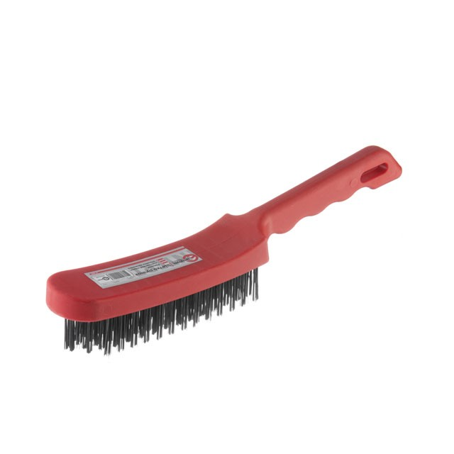 6 rows wire brush, plastic handle INTERTOOL BT-0009
