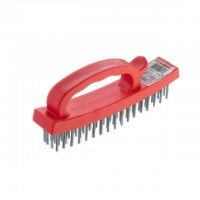 Wire brush 165 mm, plastic body INTERTOOL BT-0010