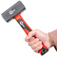 Sledge hammer 1500g, fibreglass handle INTERTOOL HT-0241: фото 7
