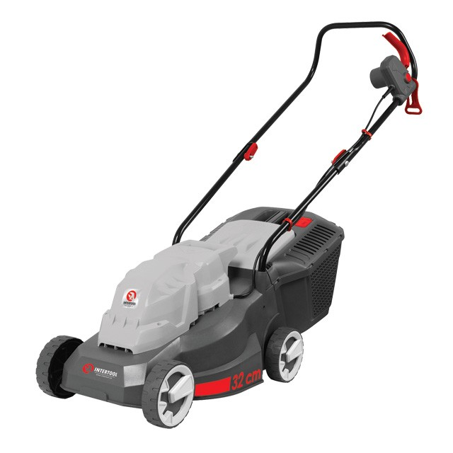 Lawn mower 1000 W, 230 V, 2850 rpm, cutting width 320 mm, cutting height 25/40/55 mm, 35 l collection box INTERTOOL DT-2261
