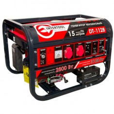 Gasoline generator max power 3.1 kW, rated power 2.8 kW, 6.5 Hp, 4 stroke, manual and power start, 51.7 kg INTERTOOL DT-1128