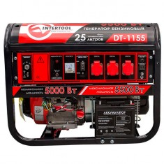 Gasoline generator max power 6 kW, rated power 5.5 kW, 13 Hp, 4 stroke, manual and power start, 96 kg INTERTOOL DT-1155: фото 2