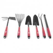 6 pcs Garden set: shovel 330 mm, rake 330 mm, wire-tooth rake 400 mm, cultivator 330 mm, hoe 330 mm, extender INTERTOOL FT-0020