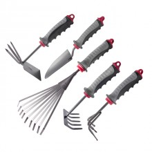 3 pcs Garden set: shovel 260 mm, rake 245 mm, hoe 230 mm, plastic handles INTERTOOL FT-0030
