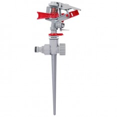 Plastic impulse sprinkler with zink spike INTERTOOL GE-0053