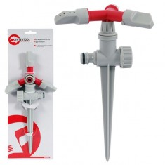 Three arm sprinkler with plastic spike INTERTOOL GE-0054