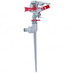 Metal impulse sprinkler with zink spike INTERTOOL GE-0056