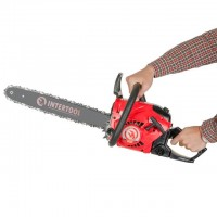 "Gasoline chain saw, 2 kW/2,7 HP, 45 cm bar, 3/8 ""chain INTERTOOL DT-2211"